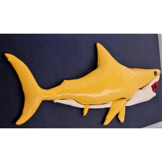 2010s Enrico Cecotto Lemon Shark Contemporary Sculptural Painting For Sale - Image 5 of 7