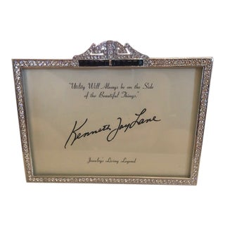 Kenneth Jay Lane Deco Crystal Picture Frame For Sale