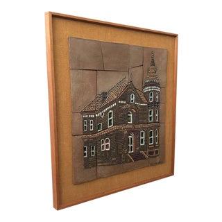 """1970s Studio Ceramic Tile """"Oceano House"""" by Brent Benett For Sale"""
