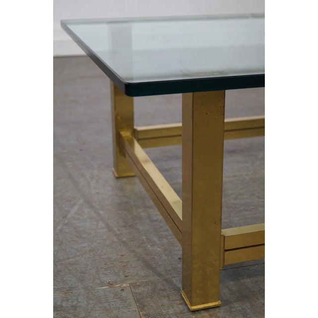 Mastercraft Brushed Brass & Glass Coffee Table For Sale - Image 5 of 10