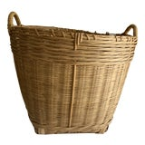 Image of Rustic Farmhouse Natural Wood Basket For Sale