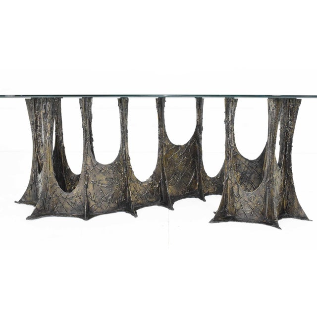Paul Evans Brutalist Stalagmite Bronze and Resin Base Dining Table, 1972, Signed For Sale - Image 10 of 13