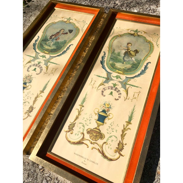 Beige Neoclassical Framed Lithograph Prints - a Pair For Sale - Image 8 of 12