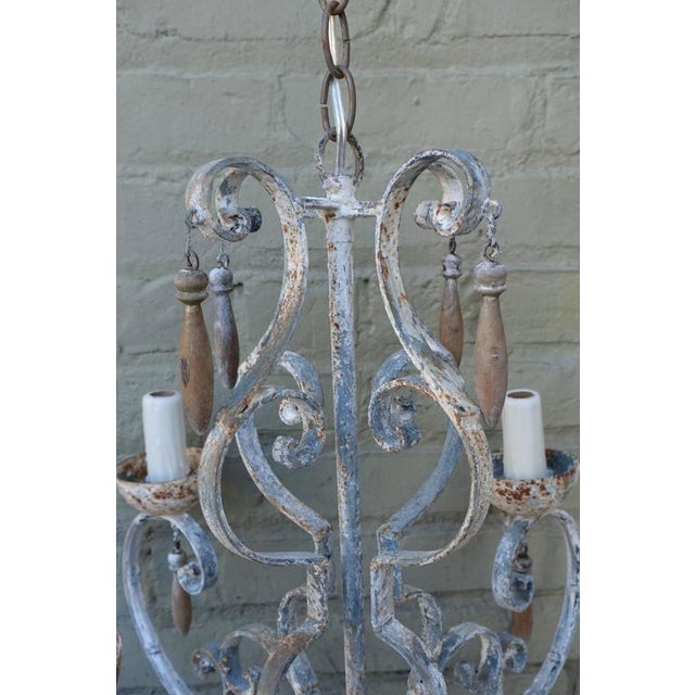 8-Light Painted Italian Chandelier with Drops - Image 7 of 8