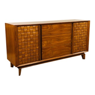 1950s Mid-Century Modern Paul Laszlo Checkerboard Credenza For Sale
