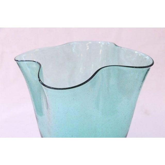 Hand Blown Vintage Blenko Glass Vase - Image 3 of 3