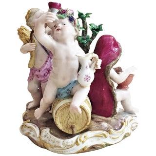Meissen, Four Seasons, Figurative Porcelain Group, 19 Century For Sale
