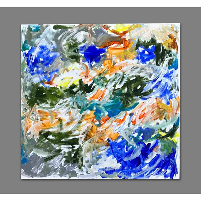 Canvas 'Tidings' Original Abstract Painting by Linnea Heide For Sale - Image 7 of 9