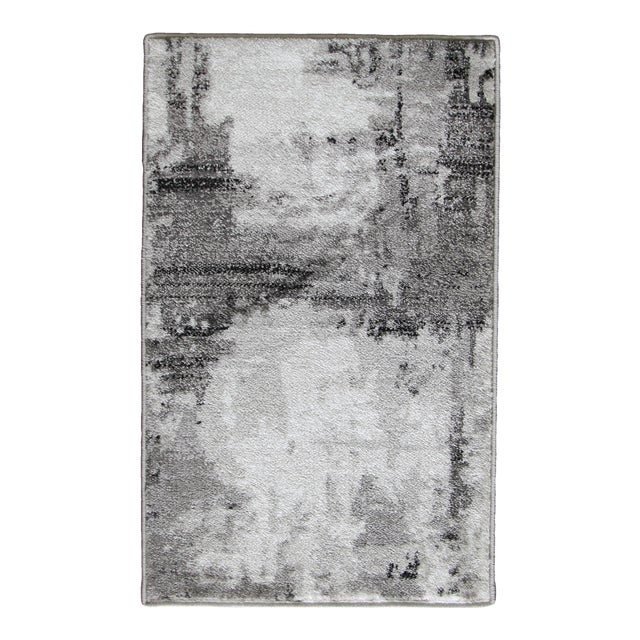 Abstract Area Rug Gray - 5'3'' x 7'7'' For Sale
