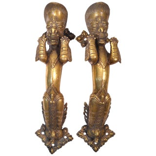 Indian Deity Door Pulls - A Pair For Sale