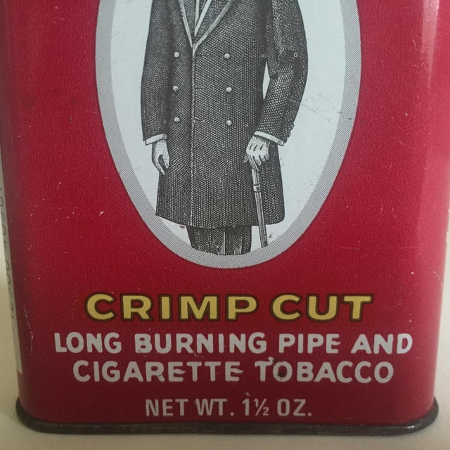 "Vintage 1970's ""Prince Albert Crimp Cut"" Lithograph Tobacco Tin Oval Box For Sale In New York - Image 6 of 11"