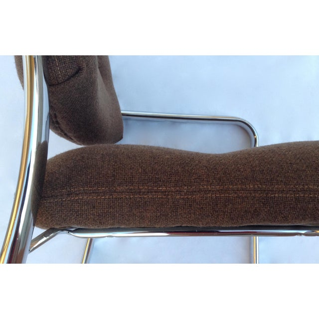 Orange Mid-Century ChromCraft Chrome Arm Chair For Sale - Image 8 of 11