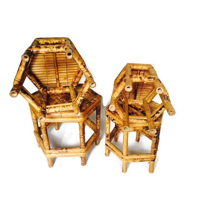 Chinoiserie Bamboo Plant Stands - Set of 4 - Image 5 of 6