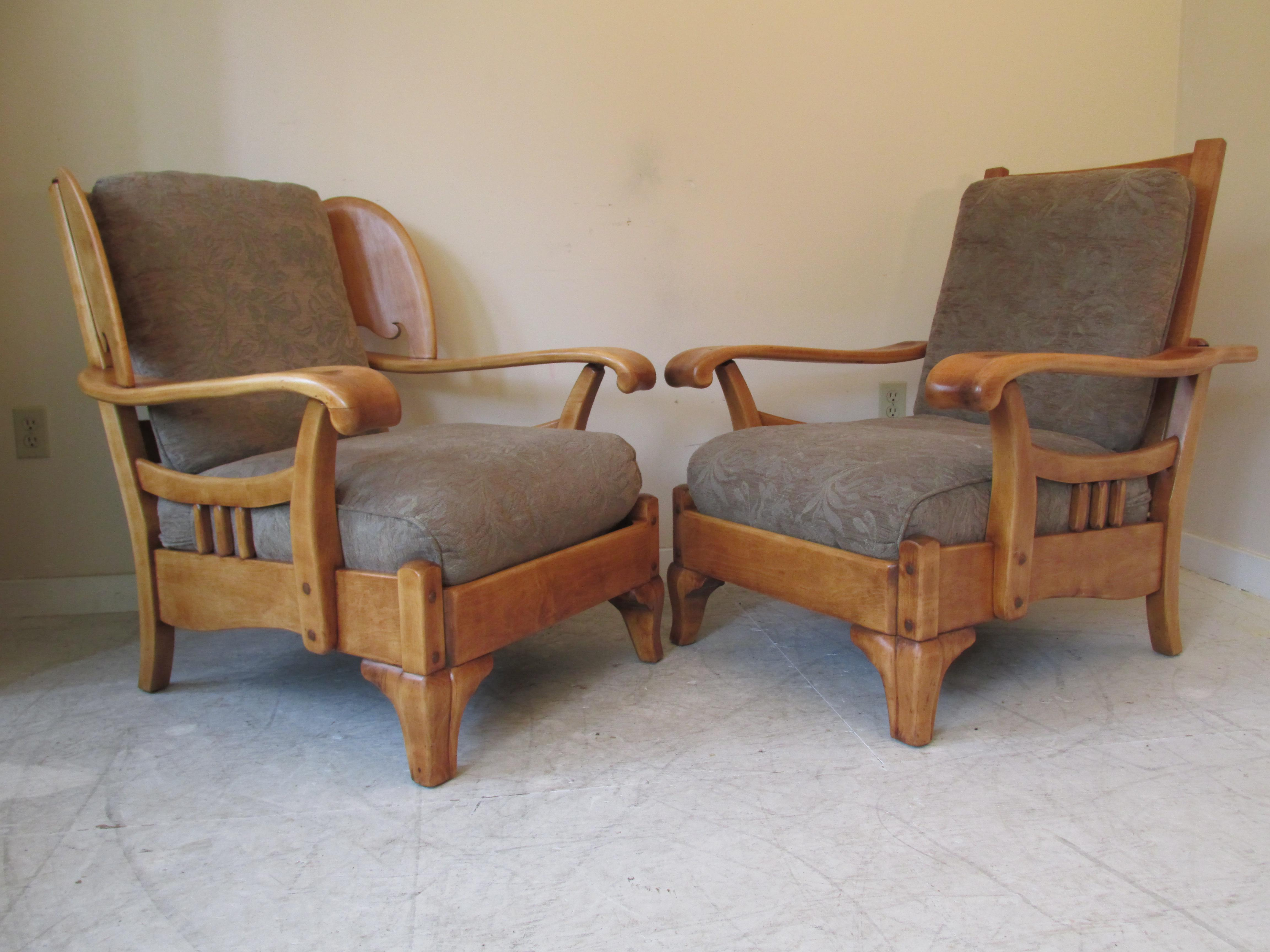 Lodge Harden Vintage Paddle Arm Lodge Chairs   A Pair For Sale   Image 3 Of