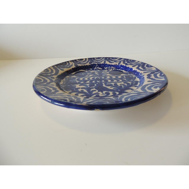 Spanish Vintage Hand Painted Spanish Decorative Dish For Sale - Image 3 of 6