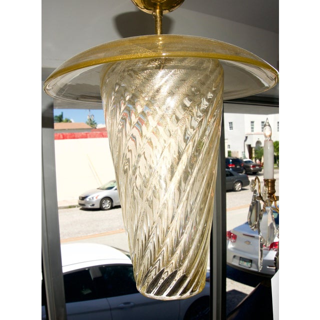Mid-Century Modern Murano Glass Chandelier Feeder For Sale - Image 3 of 8