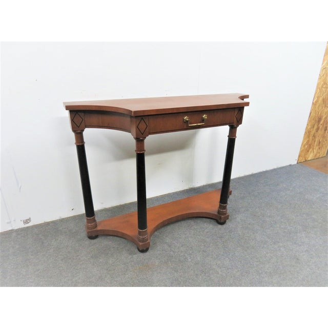 Hekman Furniture French Empire Hekman Cherrywood Console Table For Sale - Image 4 of 6