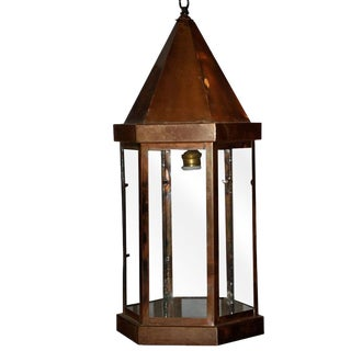 1930s Hanging Copper Lantern For Sale