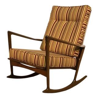 Ib Kofod-Larsen for Selig Mid-Century Modern Rocking Chair For Sale