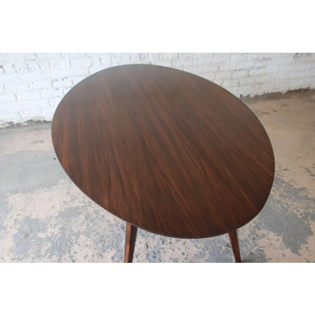 Brown Knoll Walnut Eliptical Dining or Conference Table For Sale - Image 8 of 10