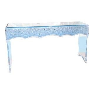 Sensational Lucite Sofa Table For Sale