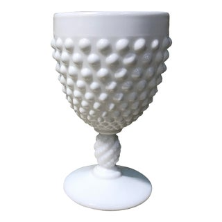 Fenton Milk Glass Hobnail Goblet For Sale