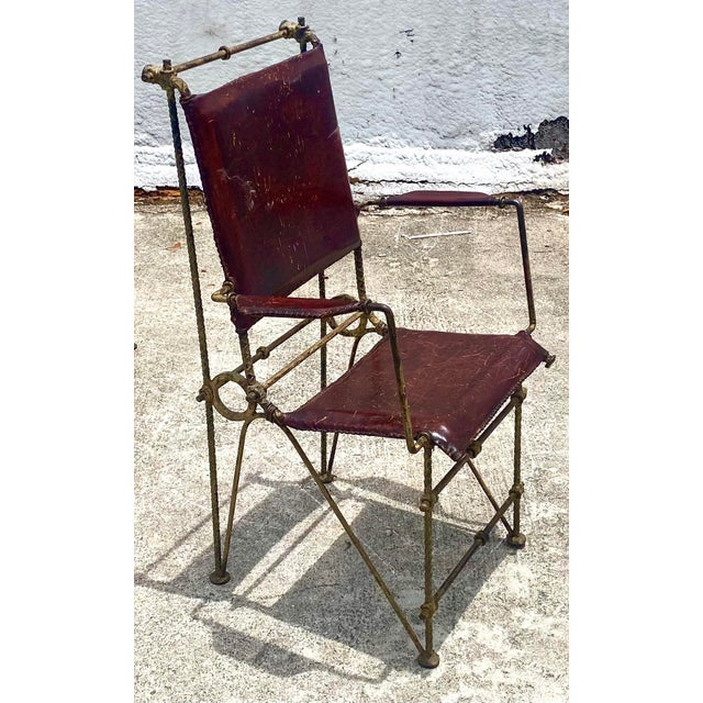 Late 20th Century Vintage Brutalist Sculpted Rebar Dining Chairs in the Manner of Ilana Goor - Set of 6 For Sale - Image 5 of 13