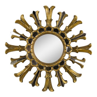 Hollywood Regency Sunburst Wall Mirror