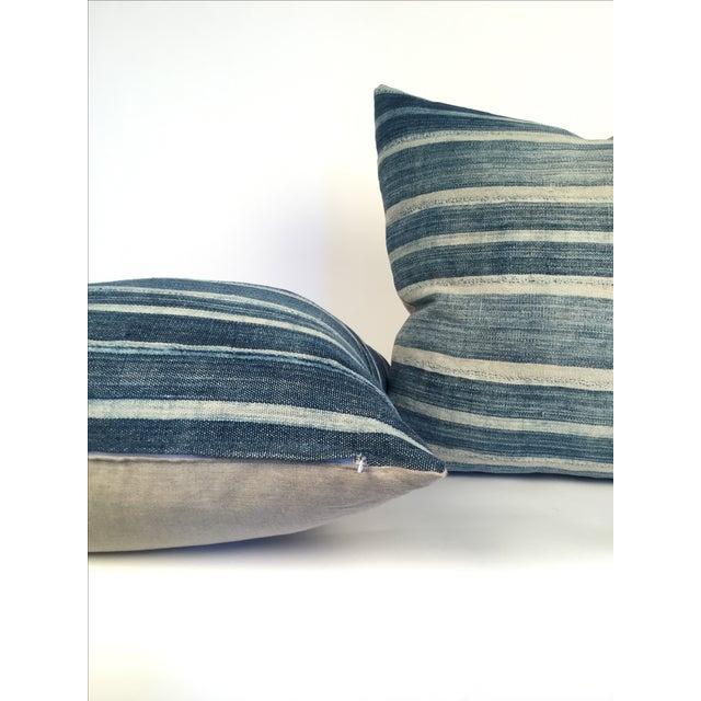 Vintage African Indigo Pillows - a Pair - Image 4 of 4