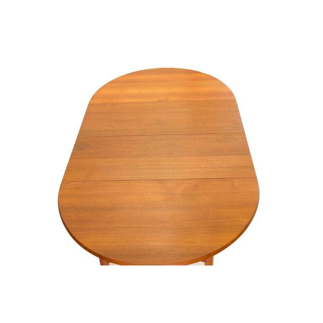Danish Modern Arne Vodder Sibast - Mid- Century Solid Teak Dining Table With 2 Leaves. For Sale - Image 3 of 12