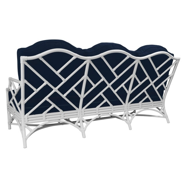 Classic silhouettes are transformed into outdoor luxury in the Chippendale Outdoor Sofa. Featuring high temperature...