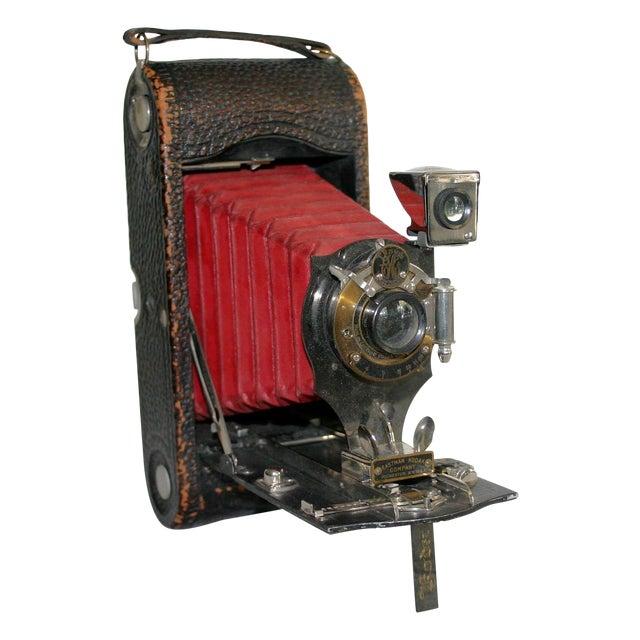 Kodak Red Bellow Folding Camera For Sale