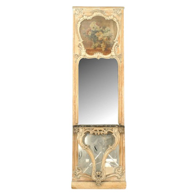19th Century French Louis XV Console Table and Mirror For Sale