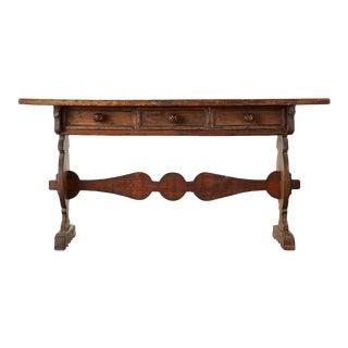 16th Century Italian Renaissance Period Walnut Library Table For Sale