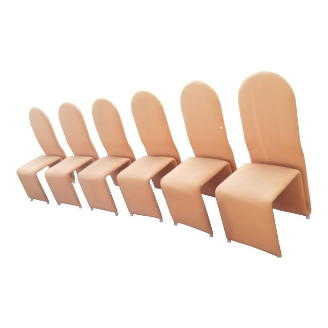 Olivier Mourgue Sculptural Ribbon Dining Chairs For Sale
