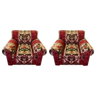 Oversized George Smith Club Chairs - A Pair