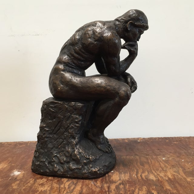 Austin Prod. 1964 Rodin Thinker Statue - Image 11 of 11