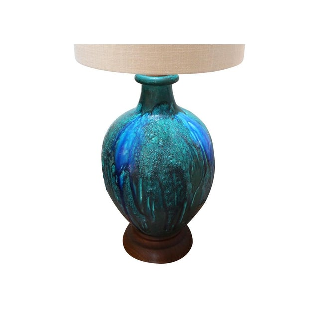 Blue Pottery Lamp - Image 2 of 4