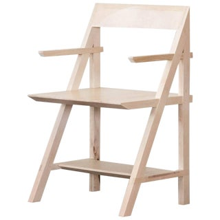 Cantilever Series Armchair by Phaedo, Whitened Maple For Sale