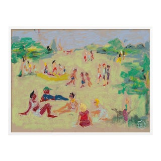 In the Park by Happy Menocal in White Frame, Small Art Print For Sale