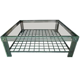 Postmodern Verdigris and Bronze Finish Spectacular Coffee Table by Steve Chase For Sale