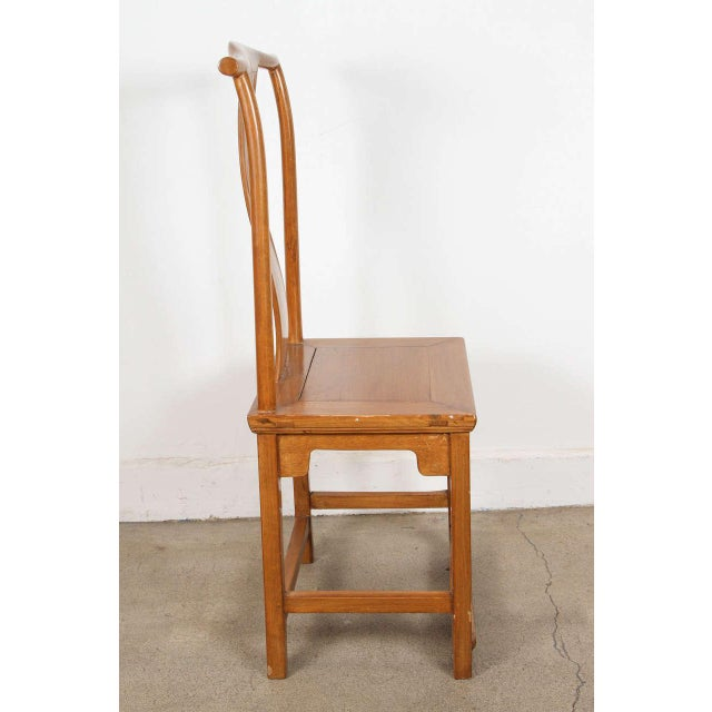 Chinese Ming Style Elm Dining Room Chairs - Set of 8 For Sale - Image 4 of 8