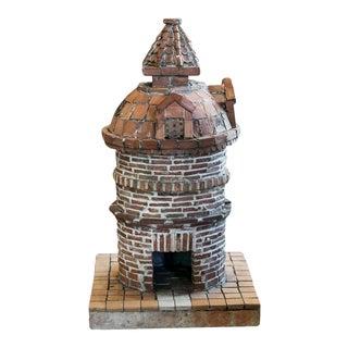 French Folk Art Terracotta Birdhouse For Sale