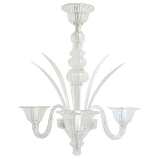 1960s Vintage Venetian Chandelier by Signoretto For Sale