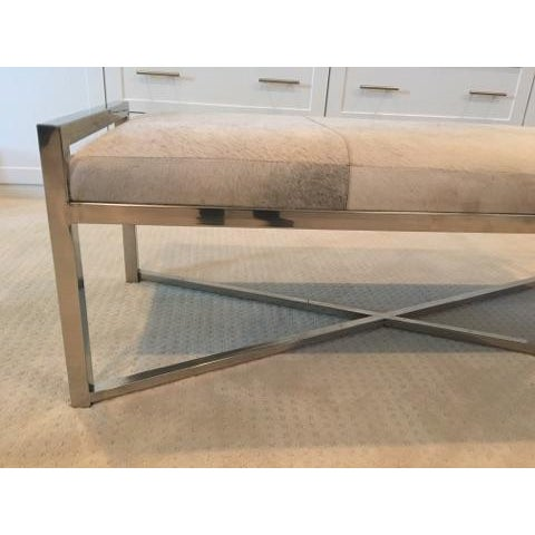 Mohair X-Base Bench/Cocktail Table - Image 6 of 11
