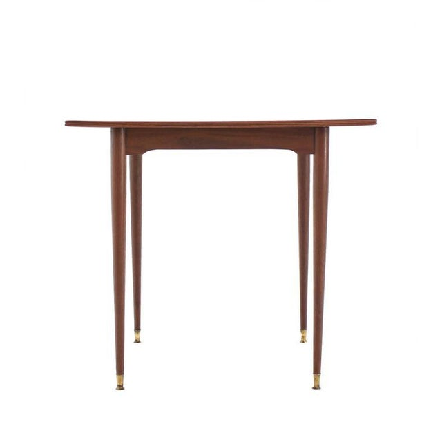 Early 20th Century Italian Mid-Century Modern Walnut Game Table on Tapered Legs For Sale - Image 5 of 6