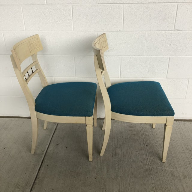 1960s Vintage Klismos Style Greek Key Dining Chairs- A Pair For Sale - Image 4 of 11