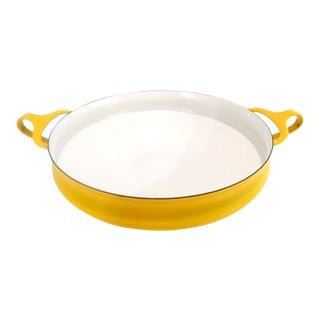 Dansk Ihq Jens Quistgaard Kobenstyle Yellow Paella Pan For Sale