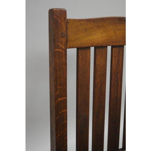 Mission L. & J.G. Stickley, Inc. Mission Oak Youth Nursing Rocking Chair For Sale - Image 3 of 11