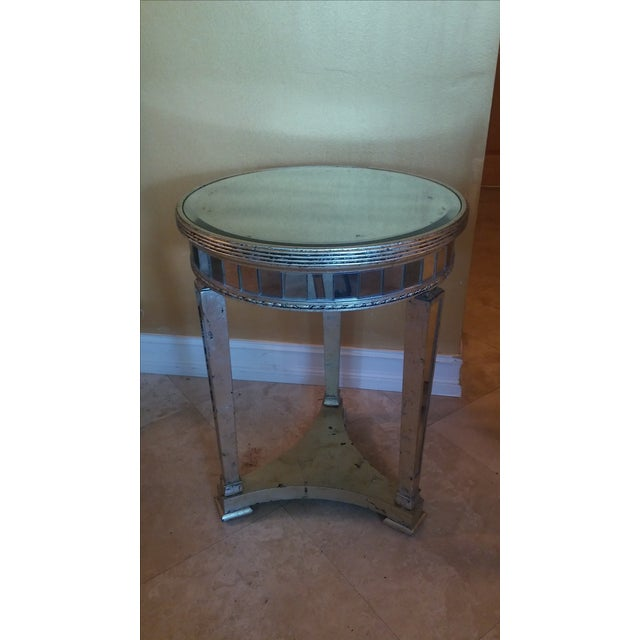 Borghese Style Round Mirror Accent Tables - A Pair - Image 3 of 5